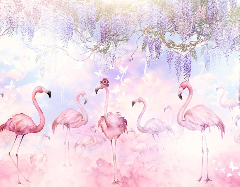фотообои с фламинго в детскую