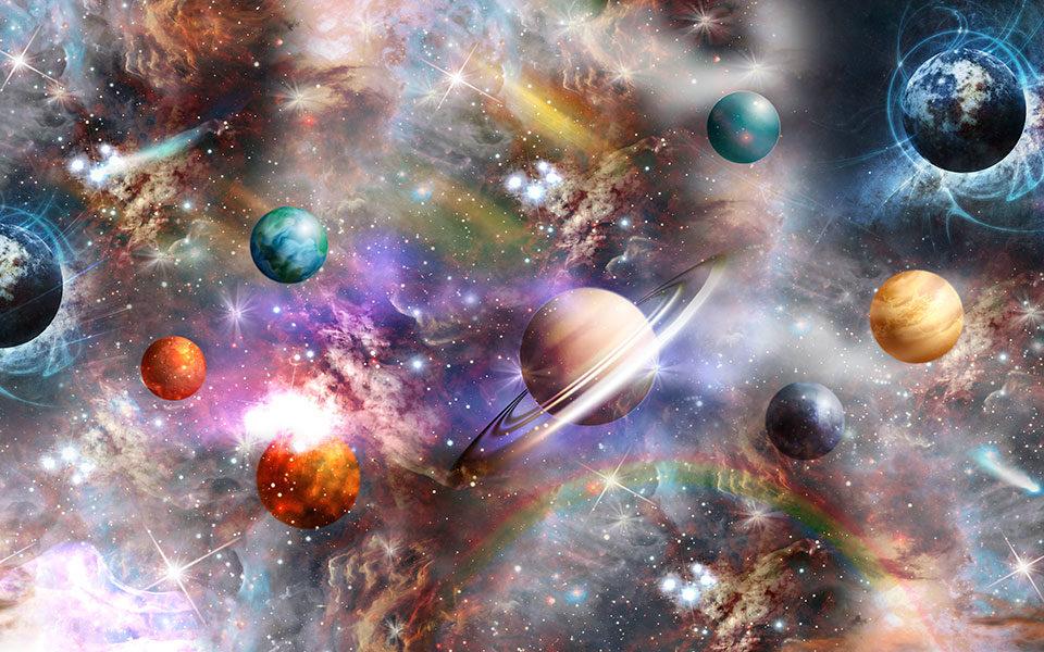 фотообои с космическими планетами обои в детскую космос купить