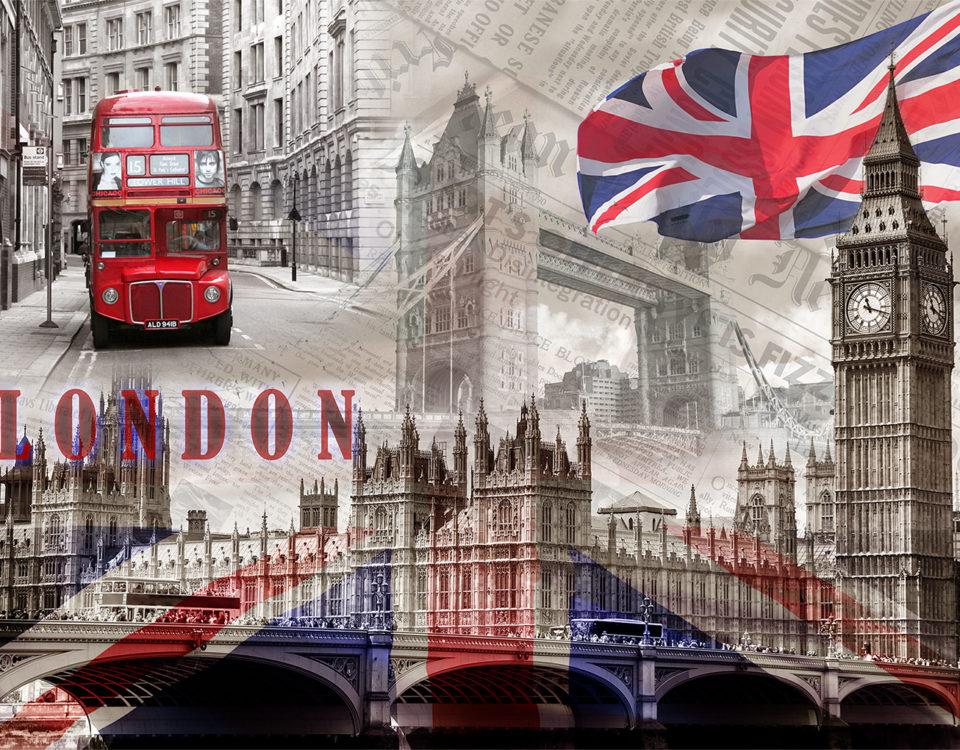 необычные фотообои Лондон купить по своим размерам интерьерная печать премиум