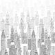 фотообои небокребы черно белые интерьерные принты латексная печать