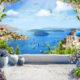 фреска красивый вид с балкона