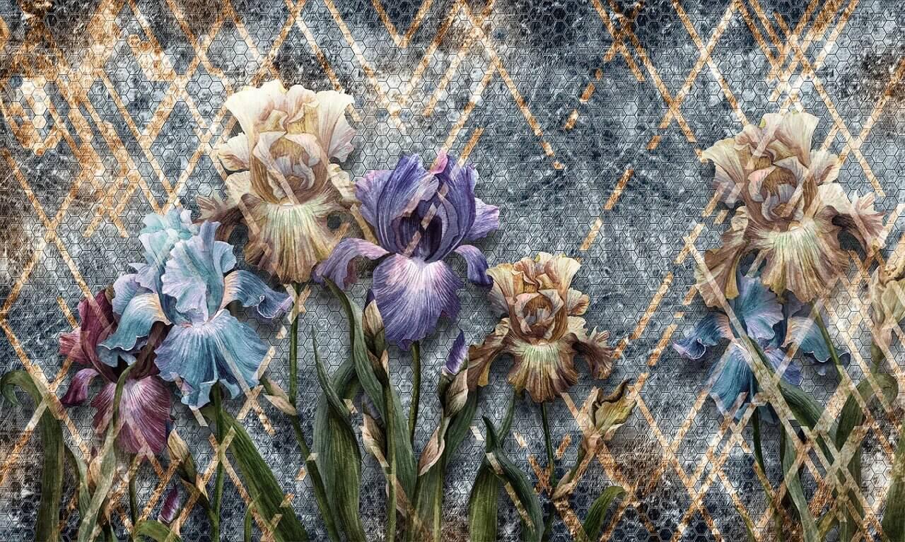 фотообои с красивыми цветами купить по своим размерам