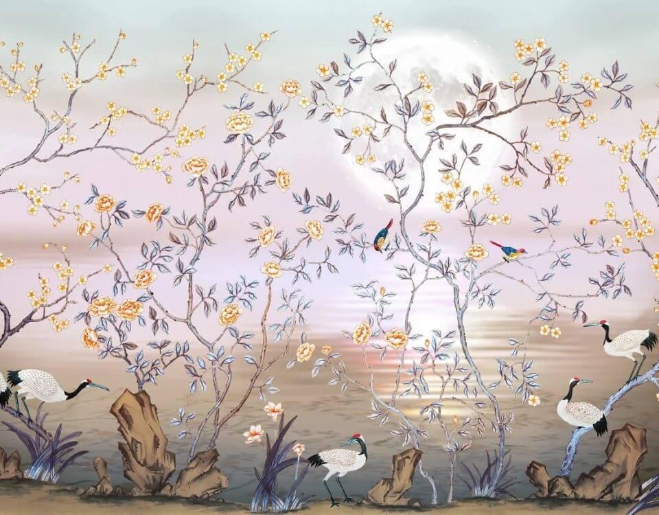 фреска птицы