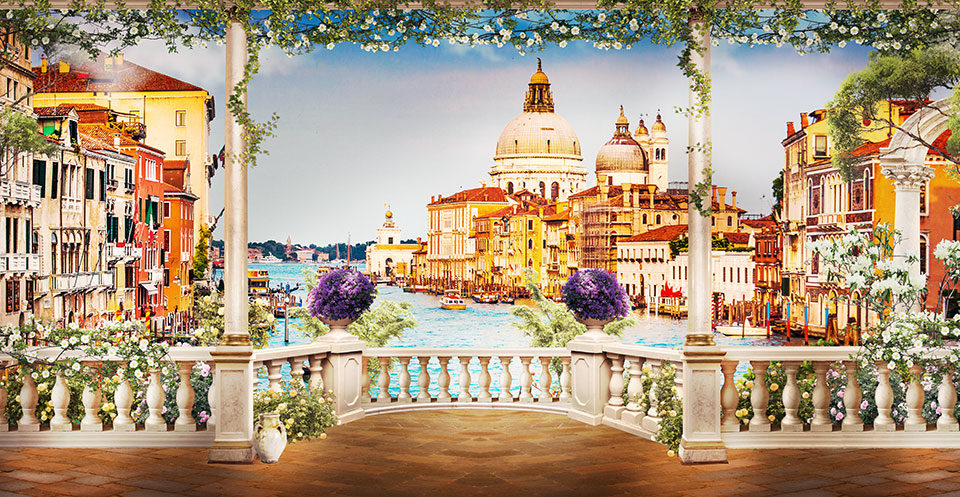 фреска +на стену венеция