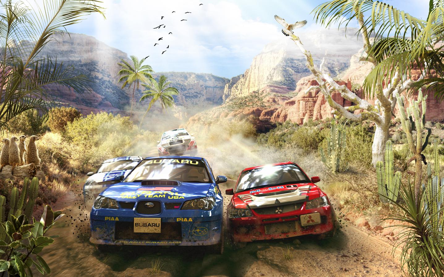 машины гонки сафари обои на стену