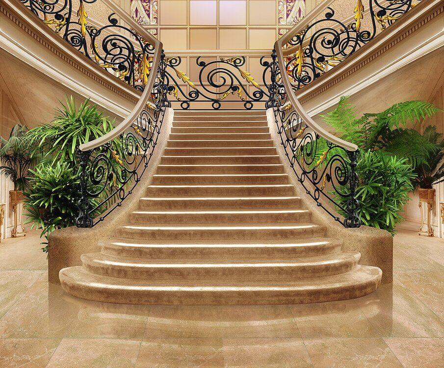 фрески лестница