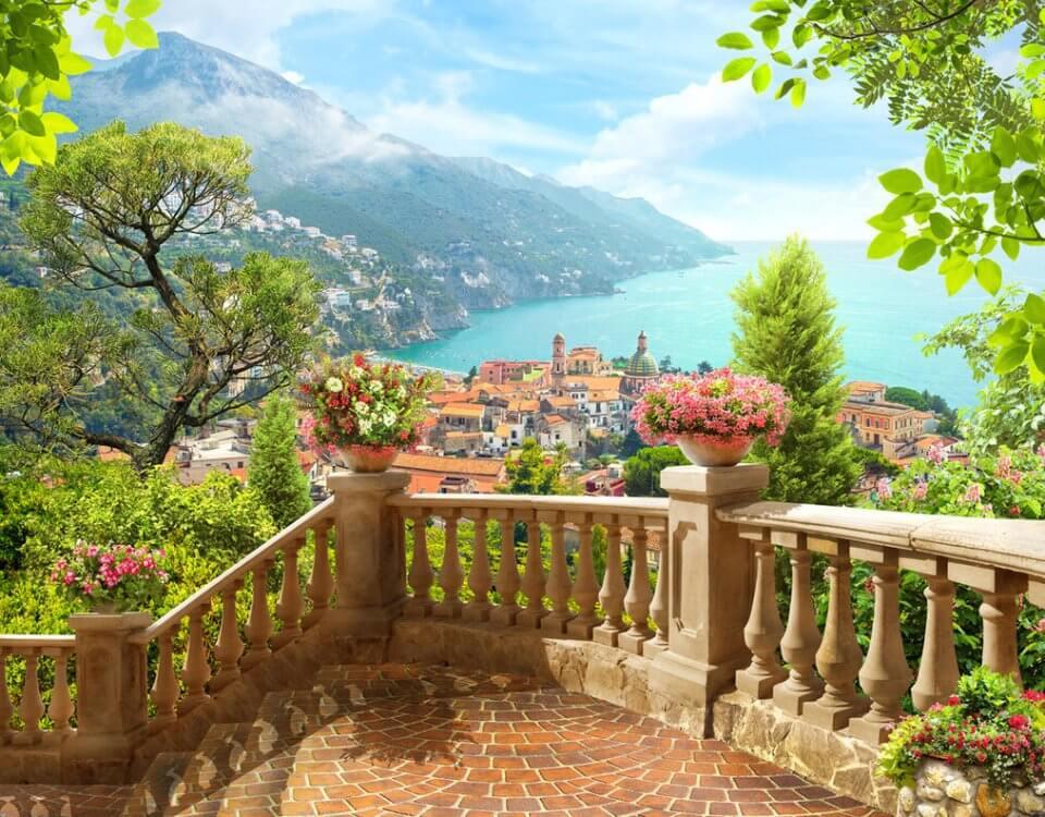 фотообои купить вил с балкона на горы и море