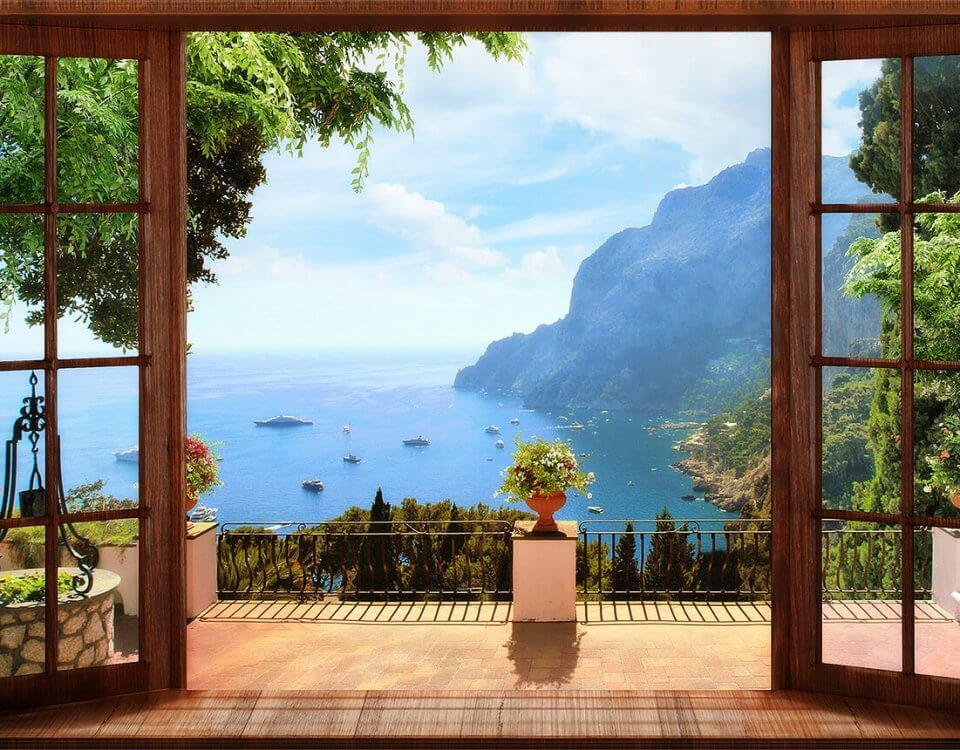 купить фотообои с видом на бухну фотообои балкон