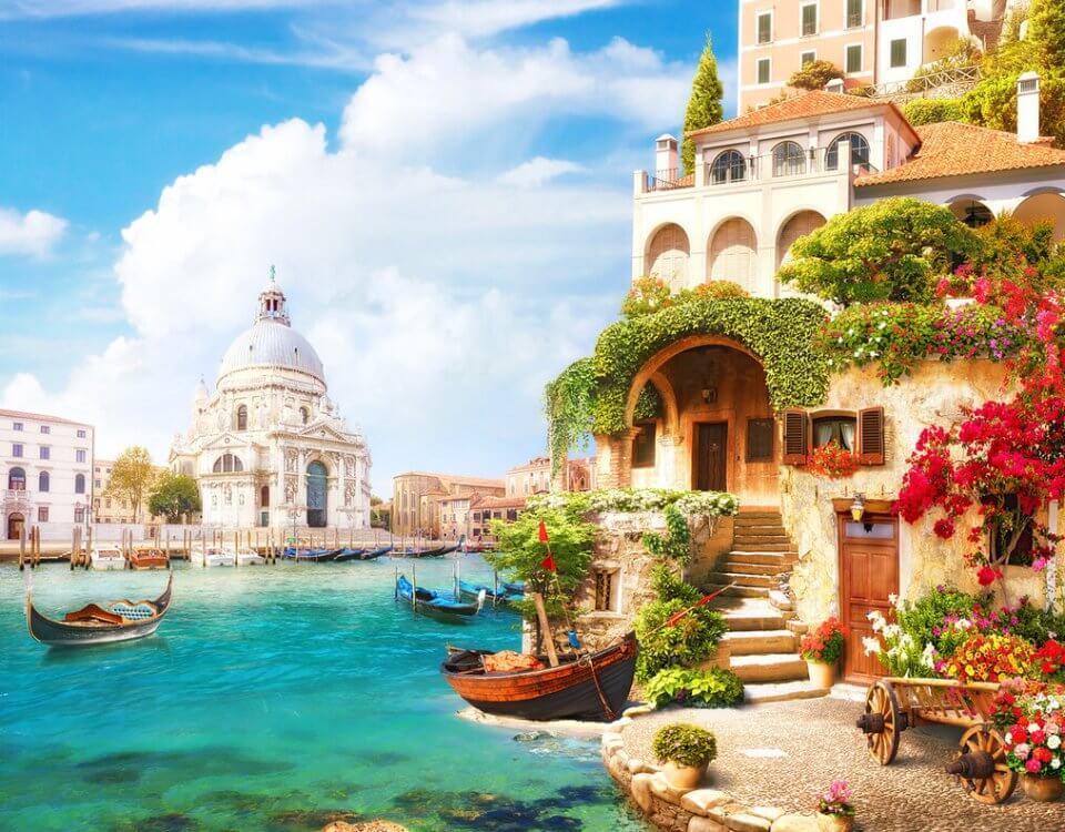 купить фотообои венеция с видом на город