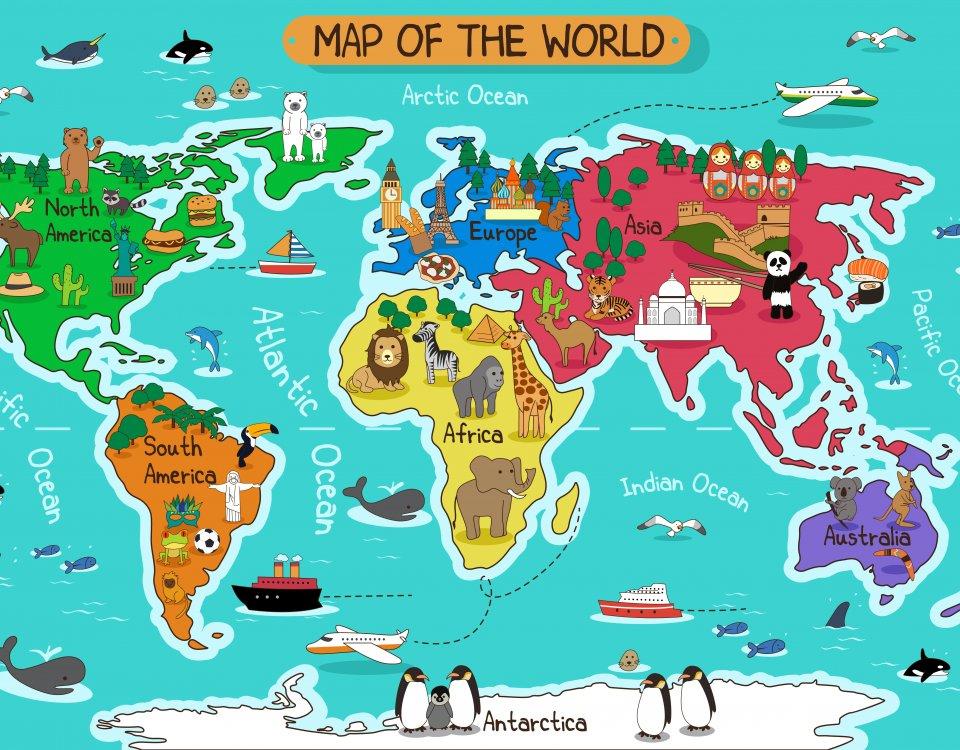 карта мира обои на английском языке. map обои