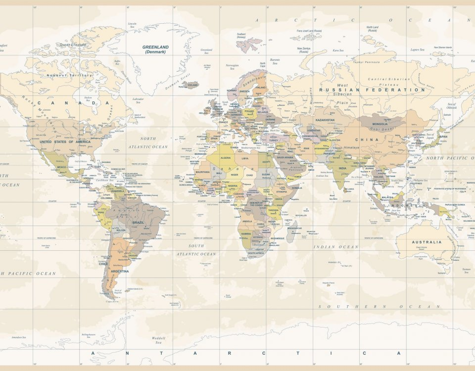 фотообои карта мира +на стену
