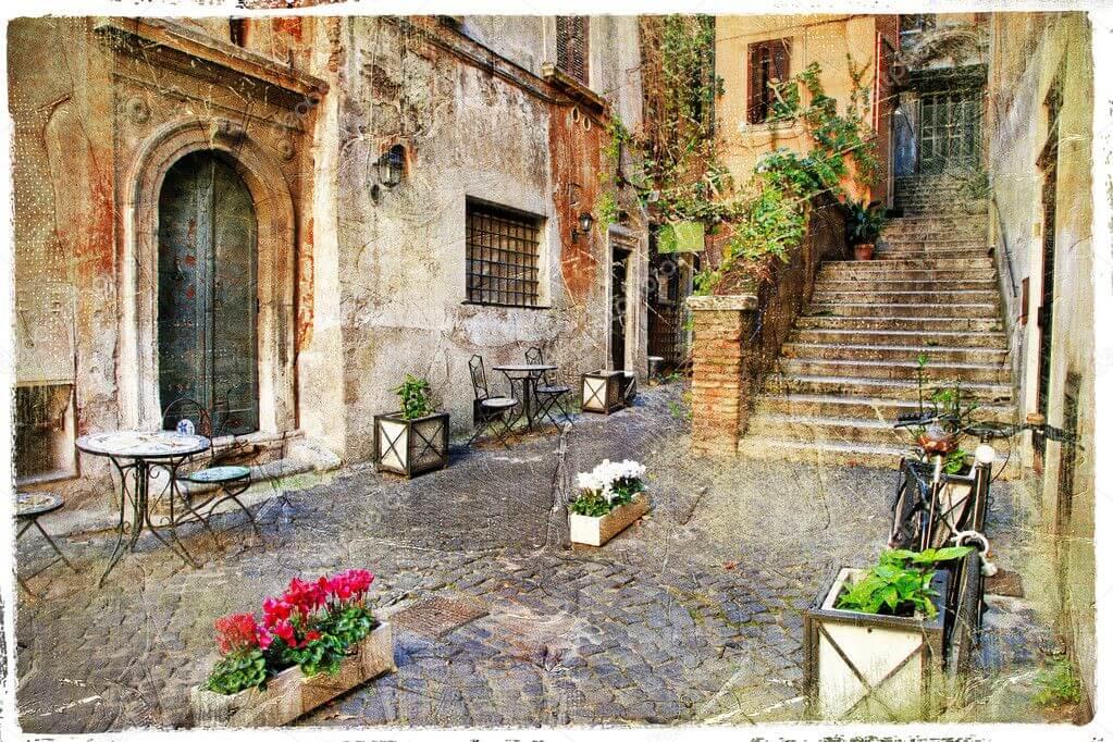 Арт. DA0115 - Дворик в Италии - Прованс