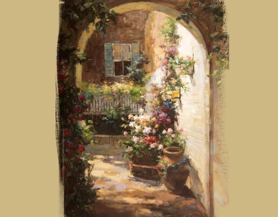 фреска арка с цветами купить
