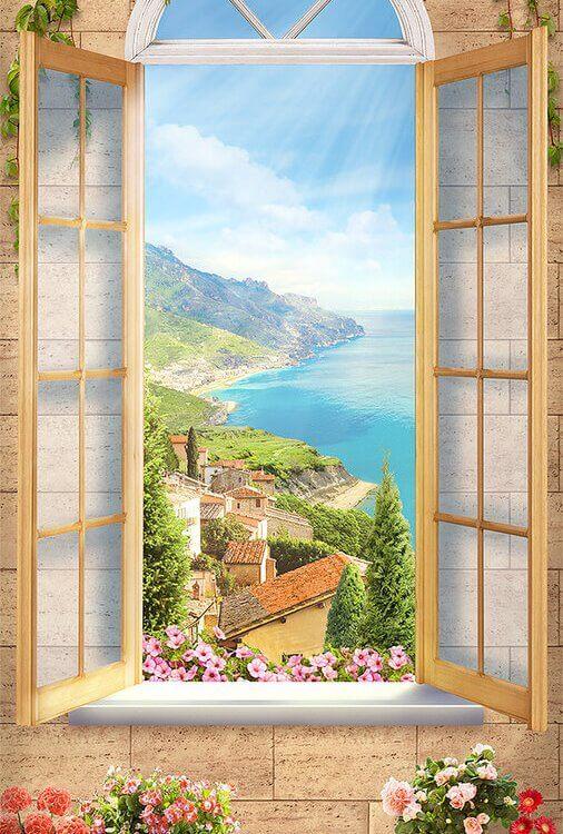 фреска вид +из окна