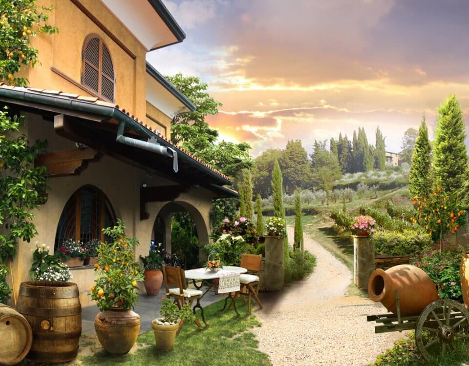 купить фреску с пейзажем