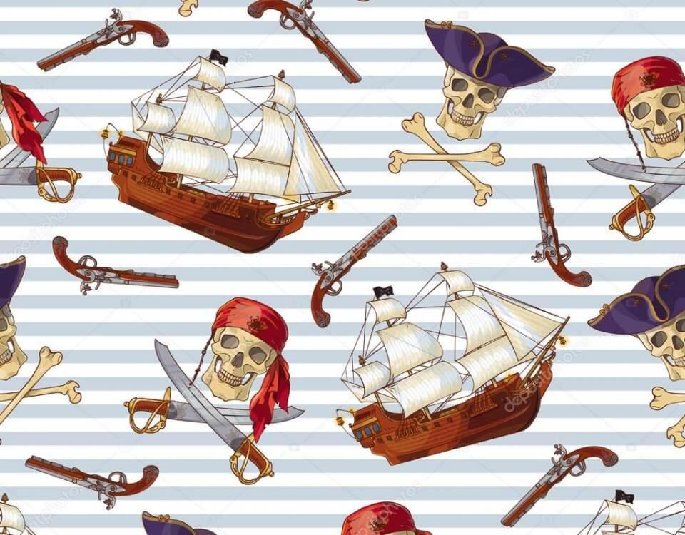 Баннер на детский прздник или для фотозоны с изображением пиратов