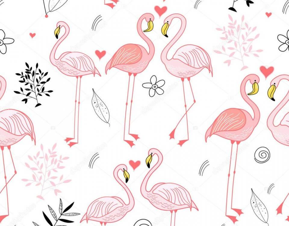 Фотообои фламинго будут интересным решением в интерьере помещения