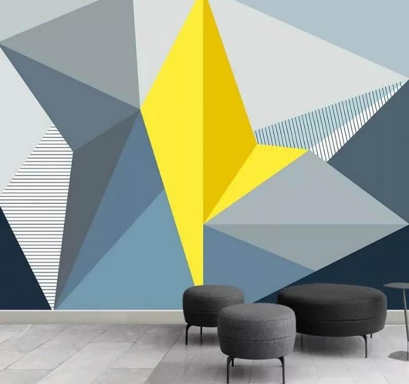 геометрия обои с желтым
