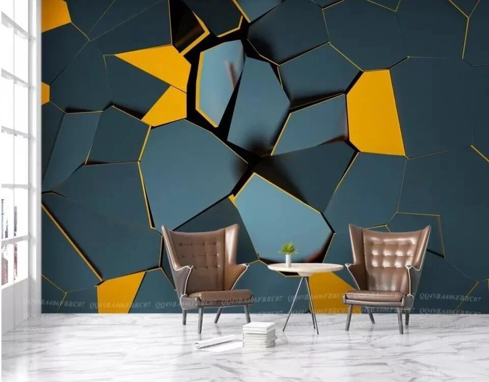 обои геометрия +для стен
