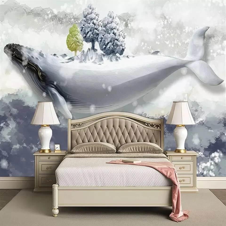 киты на детских обоях это как дверь в волшебную сказку фантазий и приключений