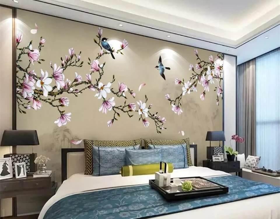 фрески на стену птицы