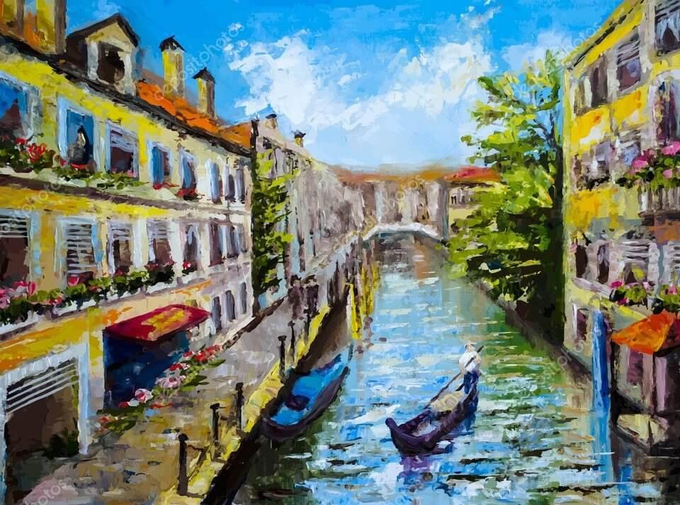 Фотообои Венеции с красивейшими каналами привораживают взгляды и навевают воспоминания о романтическом отдыхе
