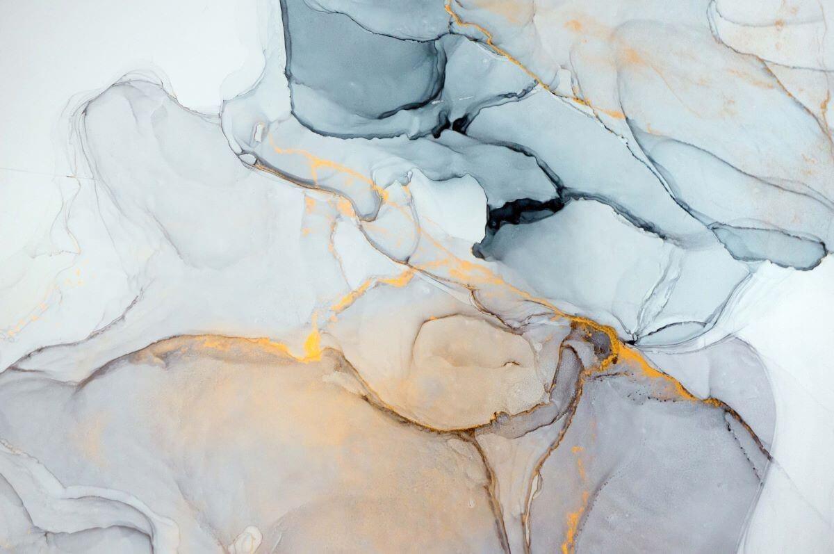 Фреска с флюидами на бесшовных материалах