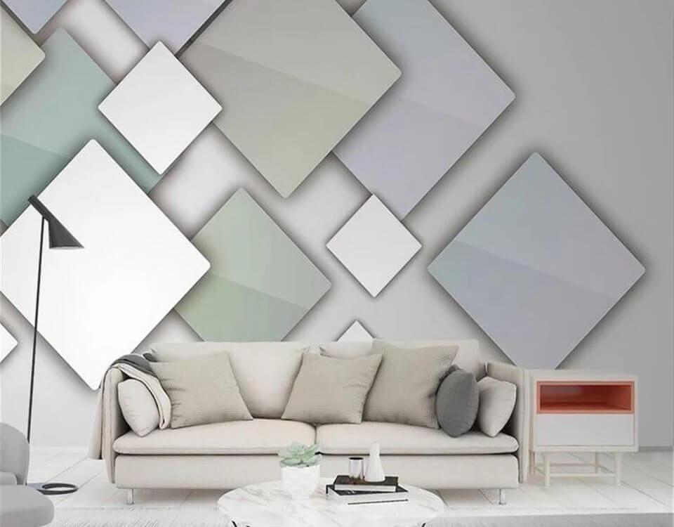 Фотообои геометрия позволяют при ремонте создать современный интерьер, который набирает популярность среди пользователей.