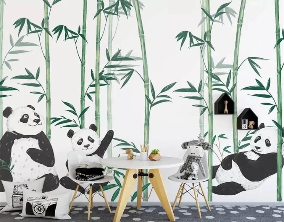 панда рисунок обои. Большой каталог с пандами. Подбор и отрисовка под ваш проект. Латексная печать. Доставкаи