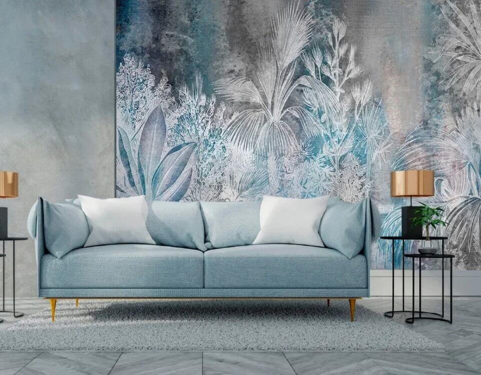 Фотообои с пальмовыми листьями украсят интерьер помещения. Натуральный или искусственный холст придаст статус и красоту комнате.