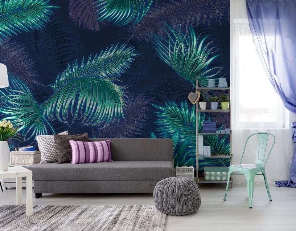 фотообои листья пальмы. фотообои пушистые листья пальмы. фотообои листья пальмы