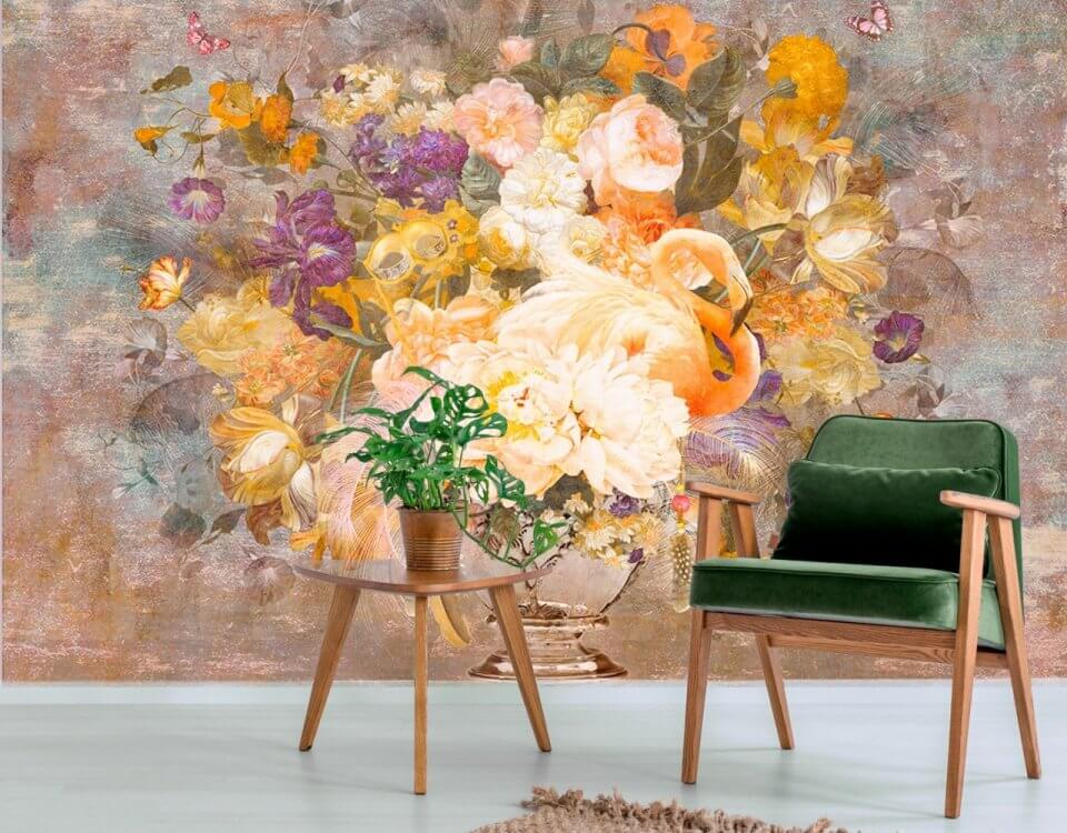 фон фламинго обои и натуральные фрески под любой размер стен