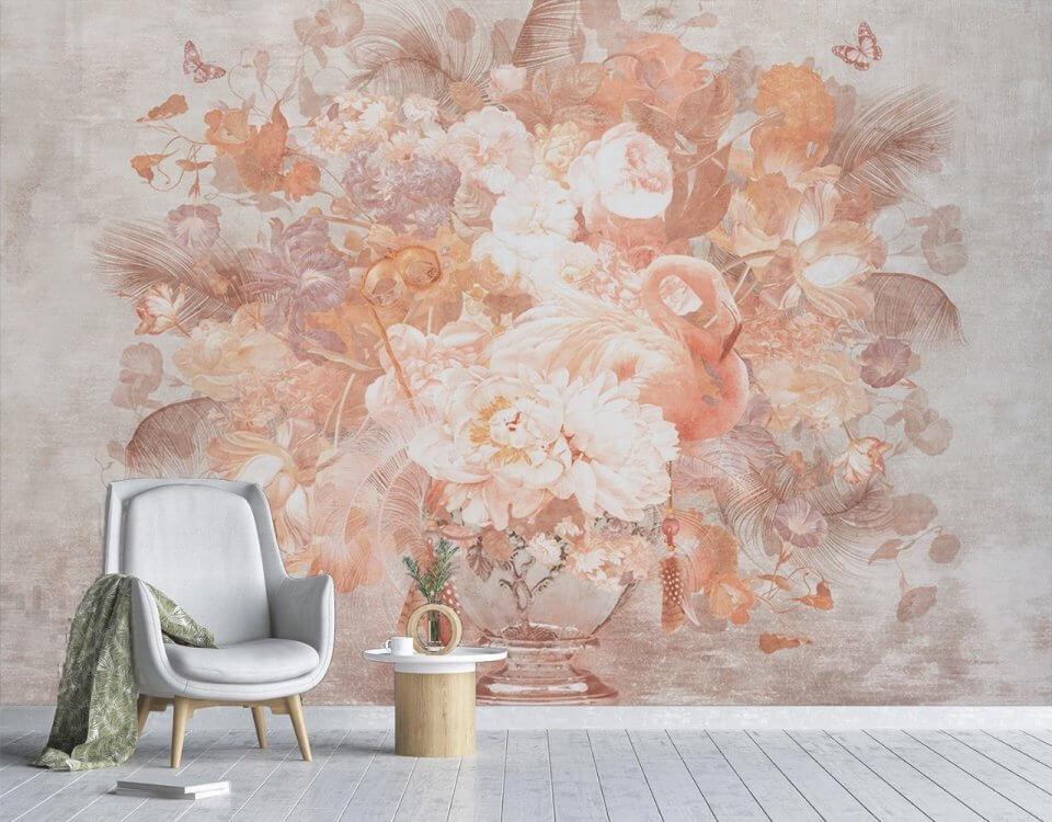 Каждому нужна своя птица счастья. Фрески фламинго помогут поселить её на стене, наполнив комнату романтикой и изяществом. Фрески впишутся в любое оформление, от классического до восточного, и станут ярким цветовым и стилистическим акцентом, благодаря изысканной цветовой палитре и выраженной текстуре.