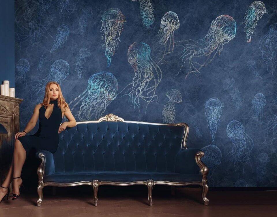 фотообои медуза