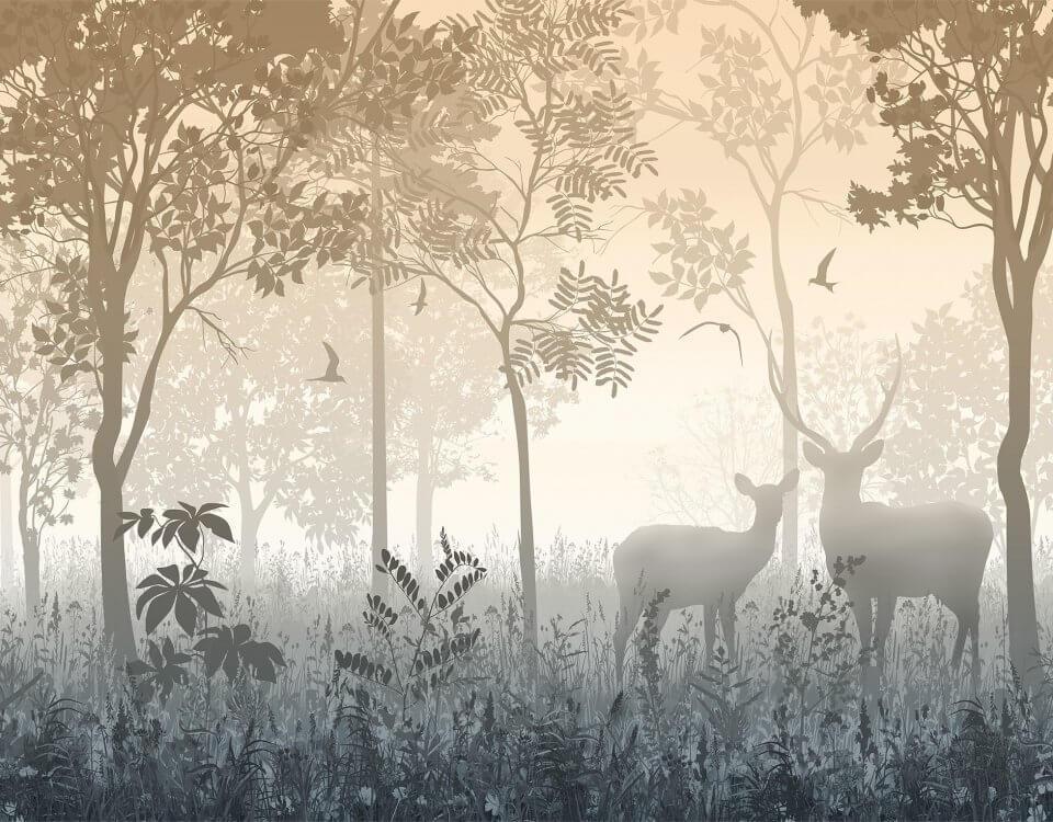 Самые популярные изображения с лесом и оленями