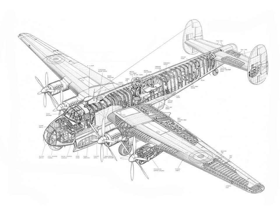 фотообои чертеж самолета на рулонных и бесшовных материалах с интерьерной печатью