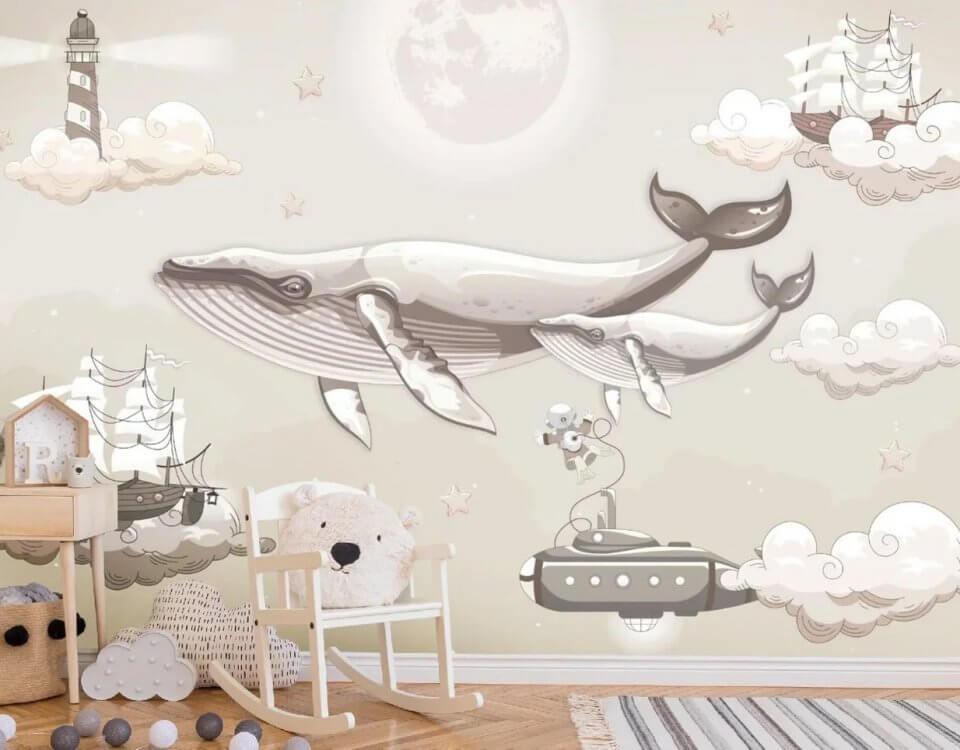 обои кит интерьер омск