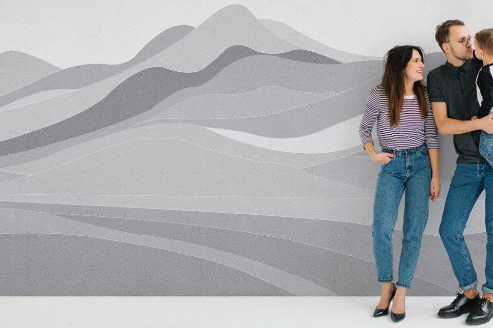фотообои серые горы на бесшовных флизелиновых материалах