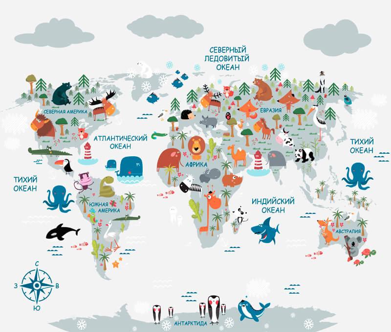 фотообои карта мира купить в москве