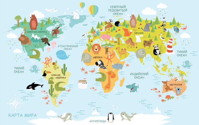 фотообои карта мира спб
