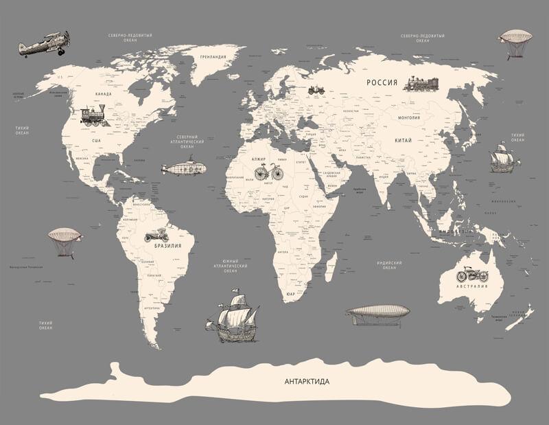фотообои карта мира купить в спб