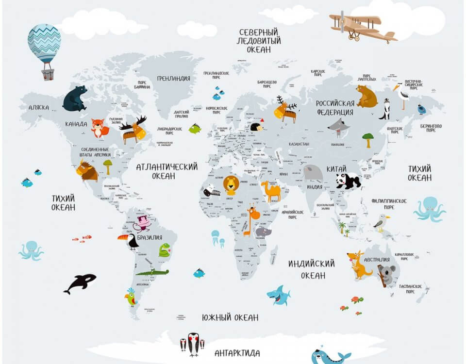 фотообои карта мира фабрика alfresco