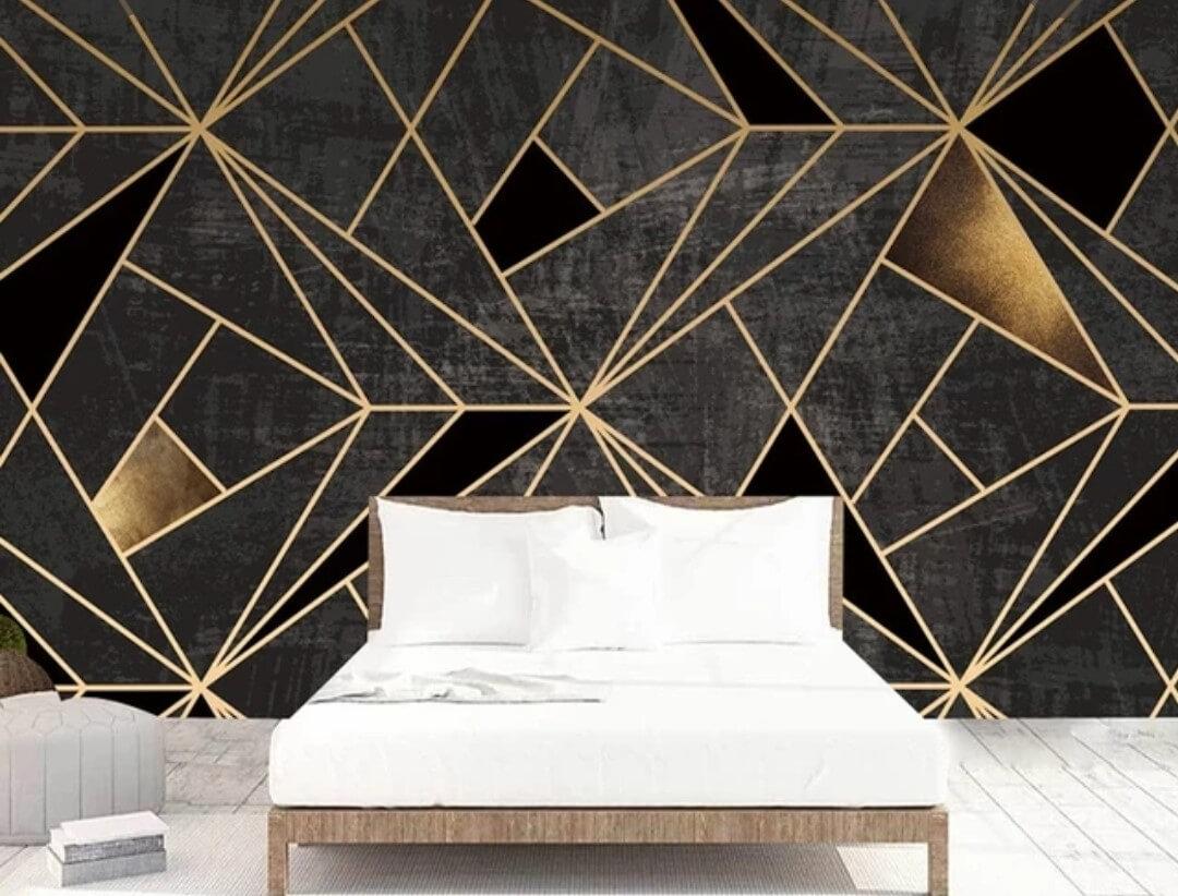 геометрия с золотыми элементами на черном фоне. Возможно коррекция цвета. Любой размер для вашего проекта