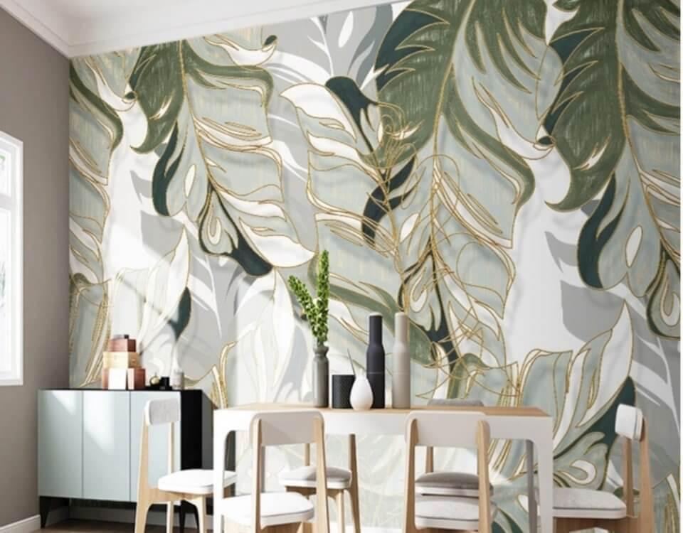 Крупные пальмовые листья для вашего проекта. Легкость и шарм вносят нежные золотые линии украшающие это изображение. Нарисовано вручную дизайнером. Является хитом изображений в 2020 году.