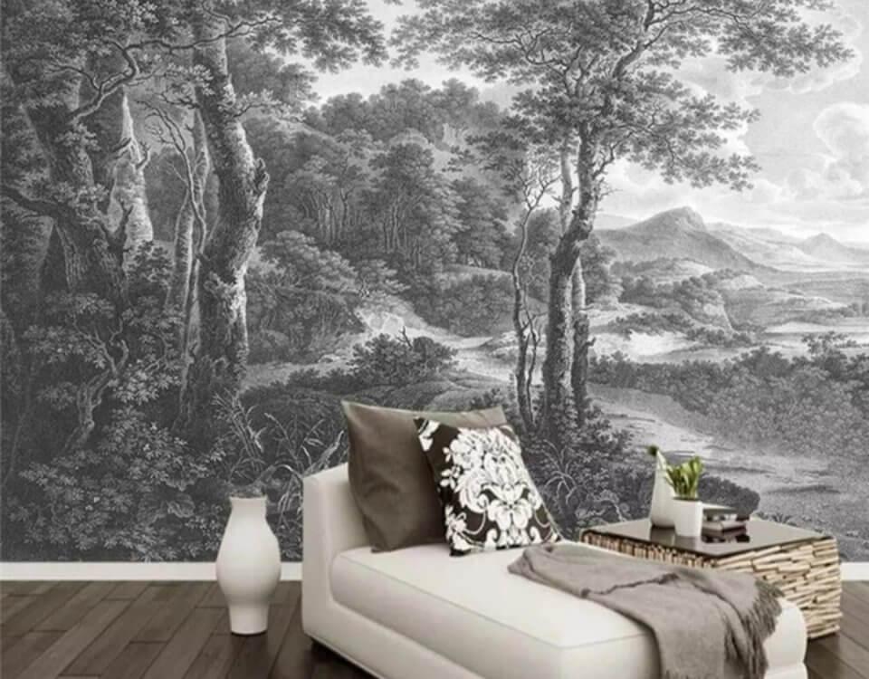 фрески лес