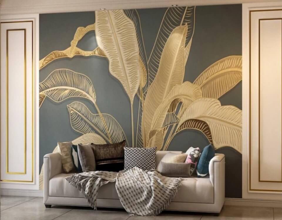 Изображения банановых листьев для принтов на стену. Большой выбор материалов для интерьерной печати. Любой размер под ваш проект. Доставка до двери.