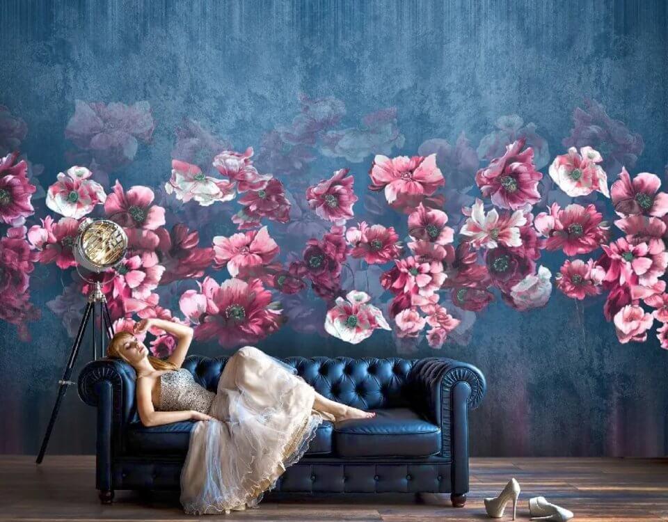 Пожалуй, цветы – это то, на что приятно смотреть всегда. Нежность, свежесть, изысканные ароматы – все эти ассоциации возникают при взгляде на пышный букет или отдельный цветок крупным планом. Стилизованные цветы часто служат основой для изысканных цветочных узоров. Воплощенные на холсте,фотообои с цветочным узором замечательно вписываются в любой интерьер.