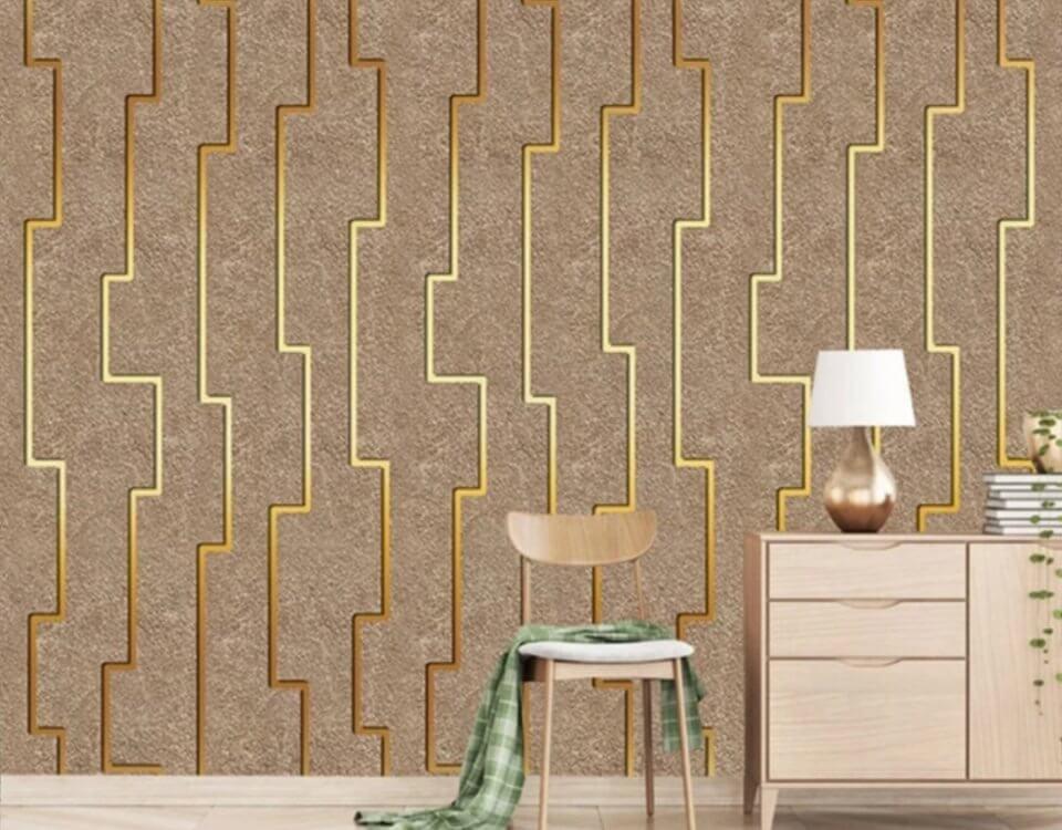 Обои Геометрия для стен многофункциональны и практичны, но чтобы полностью раскрыть их потенциал, следует соблюдать определённые правила. В интерьере с геометрическим оформлением стен не следует использовать дополнительные яркие акценты.