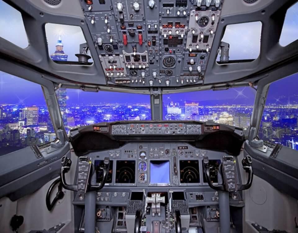 Фотообои кабина пилота с воздушным пространством бесшовные материалы