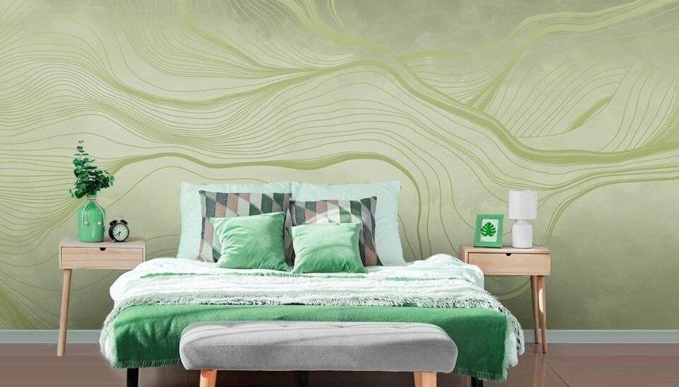 Бывает ли легкий ремонт? Как подобрать обои для спальни? Новая коллекция вуалей для декора интерьера. Зеленый цвет стен освежает помещение. Фактура бархат на стенах - ХИТ сезона.